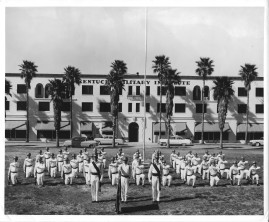 Kentucky Military Institute soldier formation