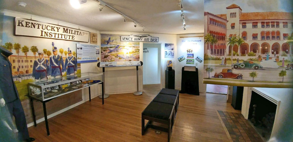 main exhibit gallery, Venice Museum & Archives, Venice Florida